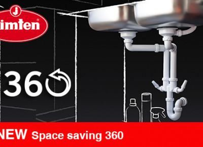 Universal trap for sinks SPACE SAVING 360º