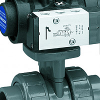 PVC electrical or pneumatic actuated ball valves