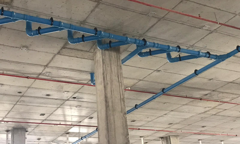 Instalación sistema dBlue en centro comercial Torrecardenas en Almería