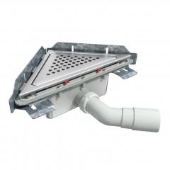 S-792 - Сифонный напольный трап треугольный - вращающийся 45° пп отвод
