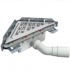 S-794 - Сифонный напольный трап треугольный - вращающийся 45° пп отвод