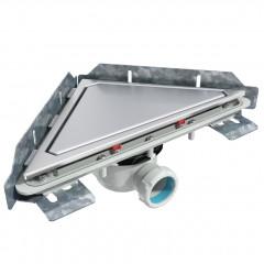 S-795 - Сифонный напольный трап треугольный - горизонтальной выходной