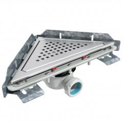 S-796 - Сифонный напольный трап треугольный - горизонтальной выходной