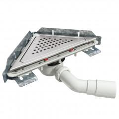 S-796 - Сифонный напольный трап треугольный - вращающийся 45° пп отвод