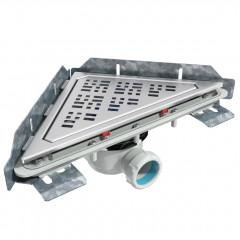 S-799 - Сифонный напольный трап треугольный - горизонтальной выходной