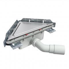 S-790 - Сифонный напольный трап треугольный - вращающийся 45° пп отвод