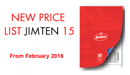 New Price list Jimten 2015