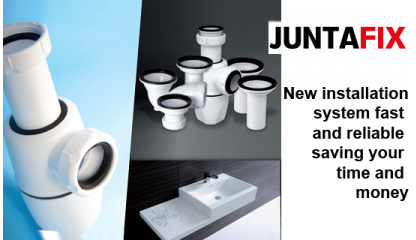JUNTAFIX  Traps and waste outlets with integrated joint system