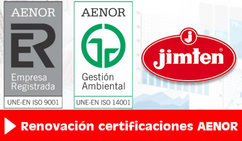 Renovación certificados AENOR de Gestión de Calidad y Gestión Ambiental