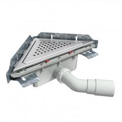 S-791 - Сифонный напольный трап треугольный - вращающийся 45° пп отвод