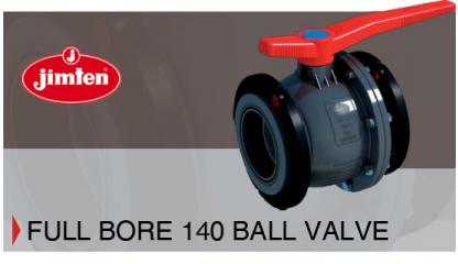 NEW Full Bore 140 Ball Valve