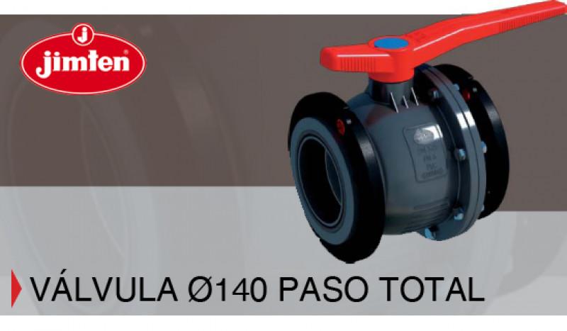 NUEVA Válvula Ø140 Paso Total