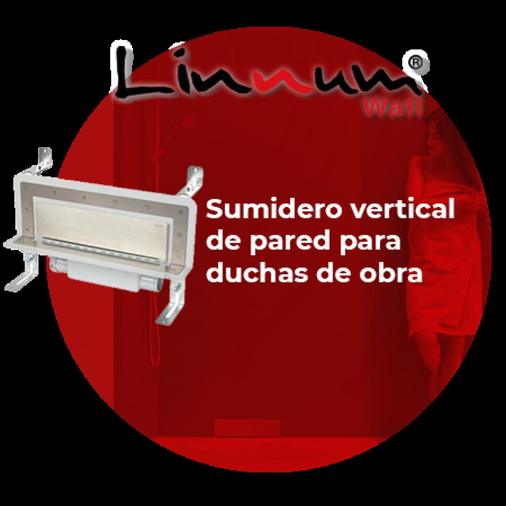 Linnum Wall : Sumidero vertical para duchas de obra
