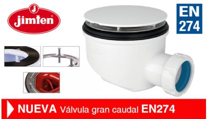 Válvula gran caudal EN274