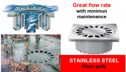 STAINLESS STEEL floor gully