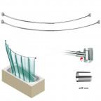 HABITAT - Barra curva extensible para bañera