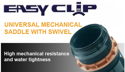 EASY Clip Universal saddle with swivel for sewage connections