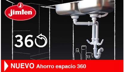 Sifón universal para fregaderos AHORRO ESPACIO 360º