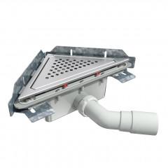 S-793 - Сифонный напольный трап треугольный - вращающийся 45° пп отвод