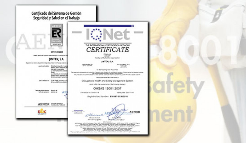 Disponible para descarga los Certificados OHSAS 18001