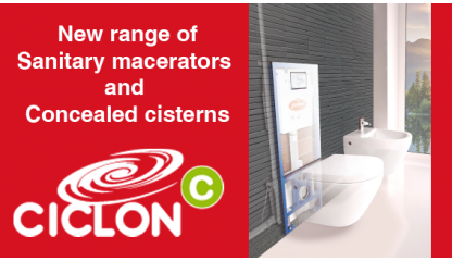 Ciclon C - Range of Sanitary macerators and Concealed cisterns
