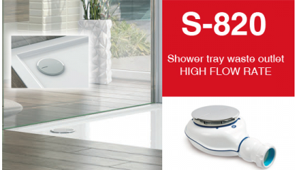 NEW Shower tray waste outlet HIGH FLOW RATE